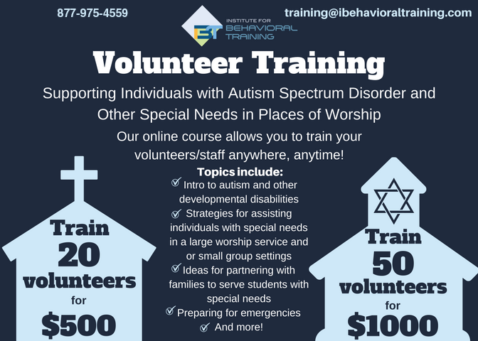 church volunteer with synogogue